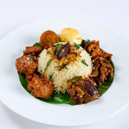 Chicken and Mutton Lampraise