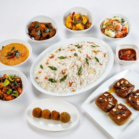 Sri Lankan Rice & Curry for 4 - Pork