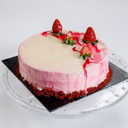 Strawberry Ribbon Cake