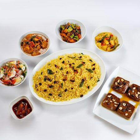 Sri Lankan - Yello Rice Meal for 4 - Prawns
